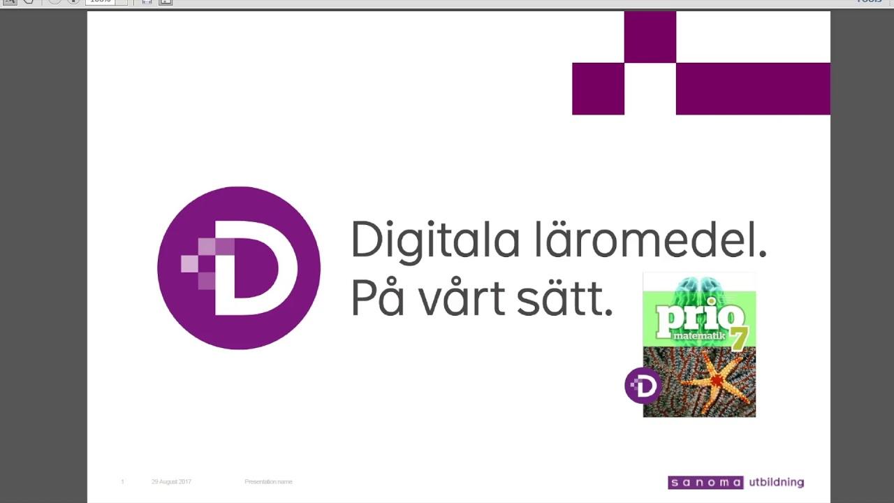 Webbinarium om prio matematik 7 digital youtube for Sanoma digital