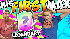 MY SON's FIRST MAX LEGENDARY! TOOK FOREVER! Clash Royale!