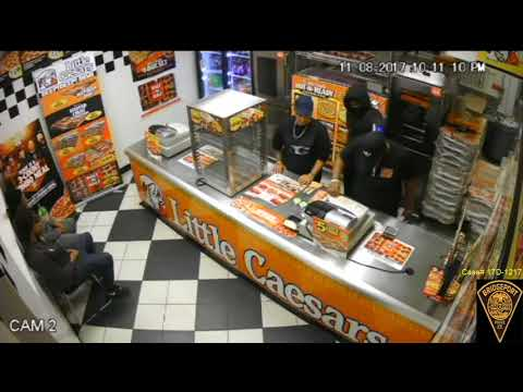 Video: Robber Points Gun At Workers' Heads In Bridgeport Pizza Place