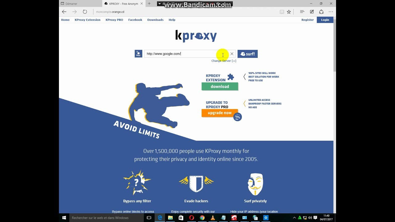 kproxy comment avoir la connexion internet gratuit sur pc 100 s re youtube. Black Bedroom Furniture Sets. Home Design Ideas