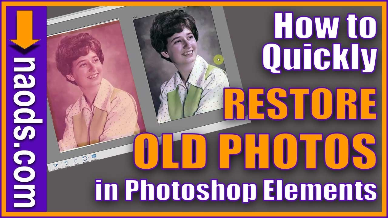 How to fix color cast in photoshop elements - How To Restore An Old Photo In Photoshop Elements