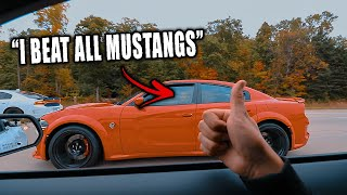 HELLCAT TRIED RACING OUR 2020 MUSTANG GT500!