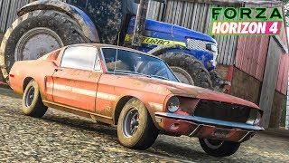 ซากรถซิ่ง 1,355 แรงม้า (1968 Ford Mustang 2+2 Fastback Forza Horizon 4)