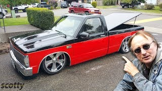 Chevy S10 Lowrider Truck Vs Toyota Tundra Double Cab Limited