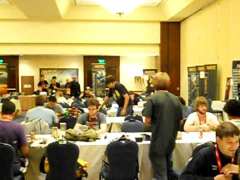view of the Magic The Gathering gaming room in SDCC 2011
