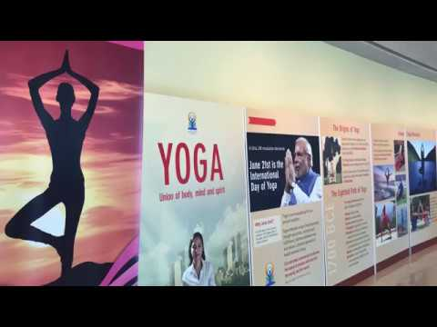 Inauguration of the Exhibition on Yoga at UN    IDY 2018