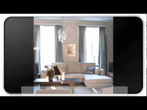 Neutral Blue Modern Living Room