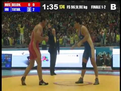 Hamed Tatari (Iran) vs Yuri Belonovski (Russia) 96kg