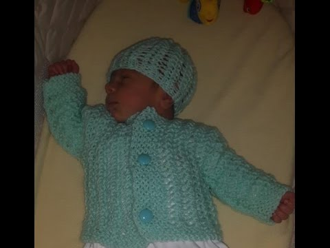 How To Knit Newborn Baby Sweater For Beginners Youtube