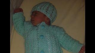 How Knit Newborn Baby Sweater Beginners