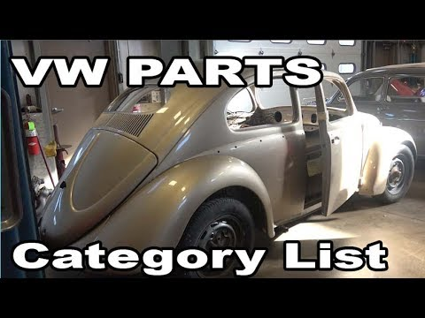 Classic VW BuGs How to Parts List Categorize for Vintage Beetle Restoration