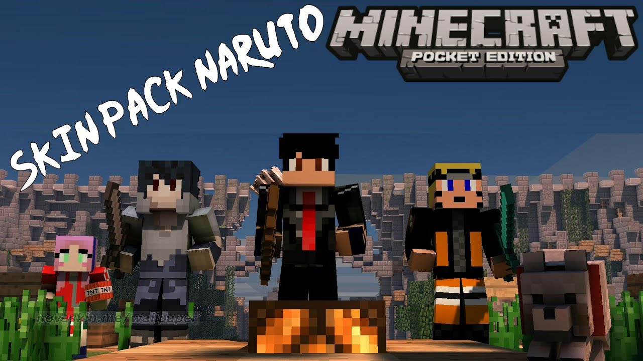 Download Skin Pack Naruto Minecraft Pocket Edition YouTube - Skins para minecraft pe de naruto