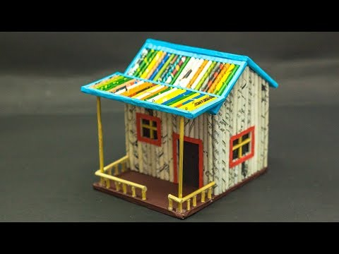 How To Make A Small Paper House | Newspaper House