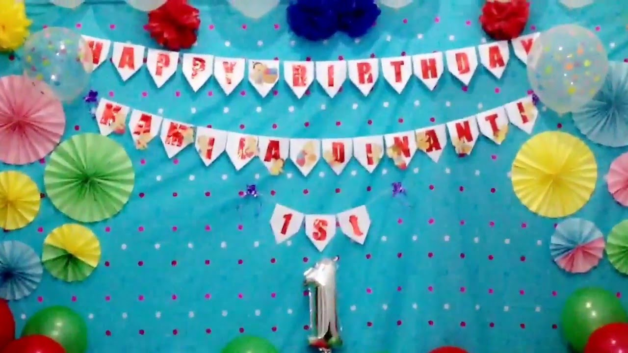dekorasi ulang tahun YouTube