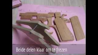 Rubber Blowback Wooden Gun Part 2  Not For Sale