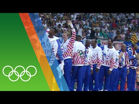 The Dream Team's Basketball gold at Barcelona 1992   Epic Olympic Moments