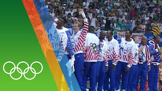 The dream team - countdown to rio 2016 31 iconic olympic moments with introduction of professional players, usa reclaimed basketball gold at barce...