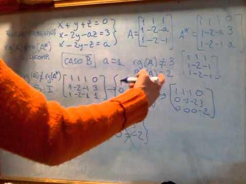 MATEMÁTICAS ACCESO 25: Cómo discutir las soluciones de un sistema y regla de Cramer  Ejercicio 3