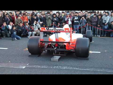 f1 McLaren Mp4/6 Honda RA121-E V12 loud engine sound music