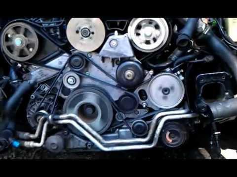 двигатель audi a4 aym 2/5 tdi схема,ремонт,замена ремней и роликов