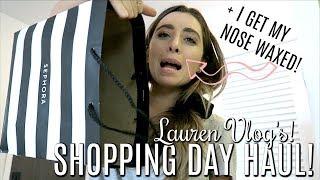 SHOPPING HAUL & NOSE WAXING DAY! | Lauren Vlog's!