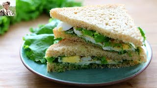 Breakfast In 5 Minutes - Healthy & Quick No Oil Sandwich - Skinny Recipes For Working Women