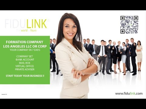 NEW 2019 ! FORMATION COMPANY LOS ANGELES LLC OR CORP USA WITH BANK ACCOUNT LOS ANGELES FIDULINK USA