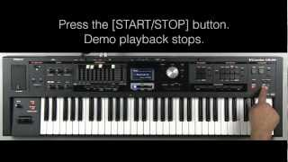 Roland VR-09 - How to Listen to Demo Songs