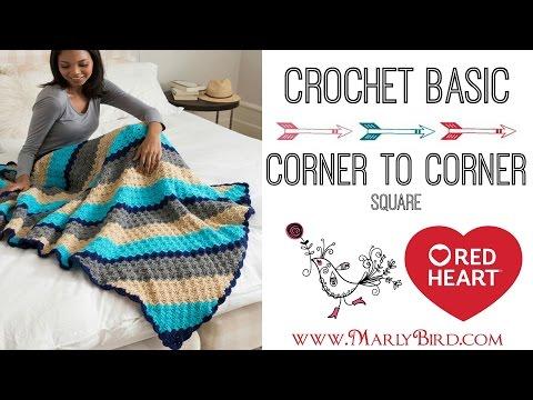 Crochet Corner to Corner Square in Half Double Crochet - YouTube