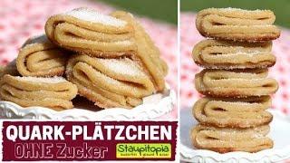 Quarkplätzchen ohne Zucker selber machen mit Kokosöl & Erythrit | Weiche Low Carb Plätzchen backen