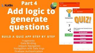 Simple Quiz App-Add some Game Logic screenshot 5