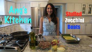 Ang's Kitchen: Stuffed Zucchini Boats