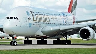 5 Close Engine Spool Ups: A380, 777, A330, 767, 757   Manchester Airport