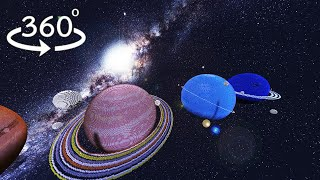 Солнечная Система - 360° MinecraftVR 4K 60FPS🌎