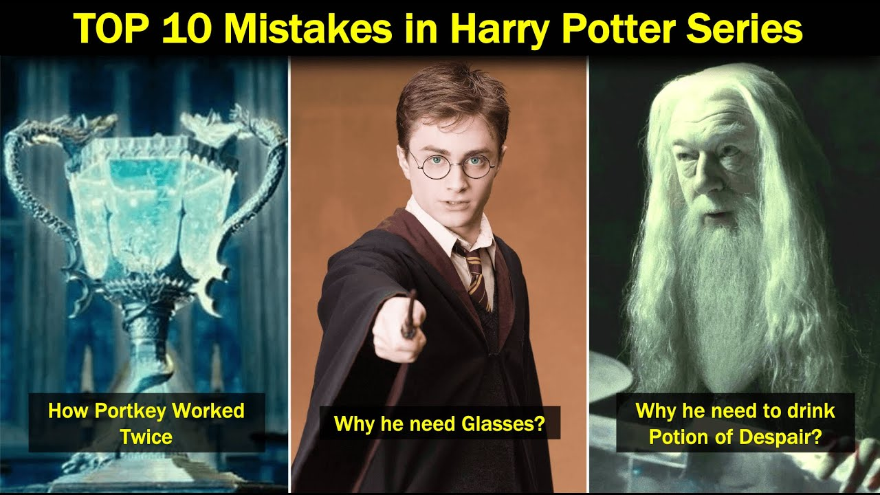 TOP 10 MISTAKES in Harry Potter Series | Explained in Hindi