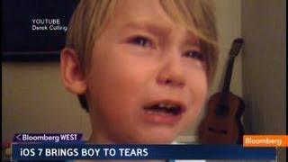 iOS 7 Brings 4-Year Old Boy to Tears