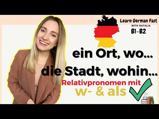 GERMAN 🇩🇪 #74: WAS/WO/WORÜBER - Relativsätze (etwas, WOVON ich träume) // Learn German Fast