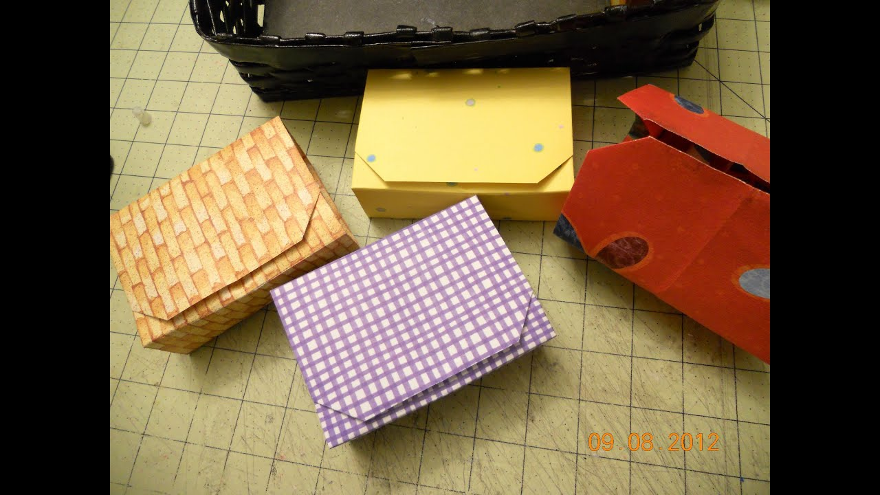 Origami storage boxes - YouTube - photo#4