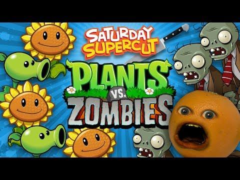 Annoying Orange vs Plants vs Zombies [Saturday Supercut🔪]