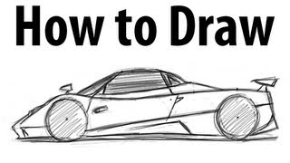 How to draw a Pagani Zonda - Sketch it quick!