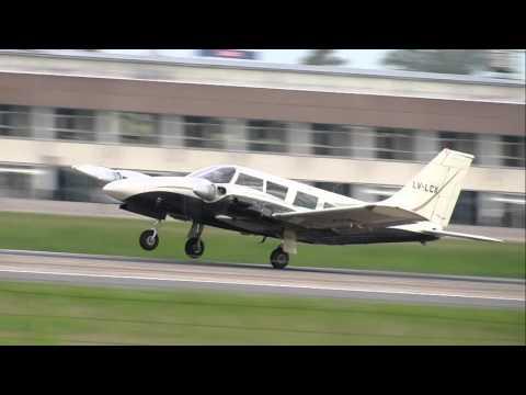 """Piper PA-34 Seneca """"LV-LCX"""" practicando en SAAR (Rosario) 10/11/15"""