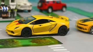 Полицейская погоня за преступником сборник, Заморозили полицейские машины, новая полицейская машина.