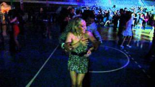 Maikel Fonts and the italian queen Stefania Errede@ Social Dance at Mallorca salsa congress 2010