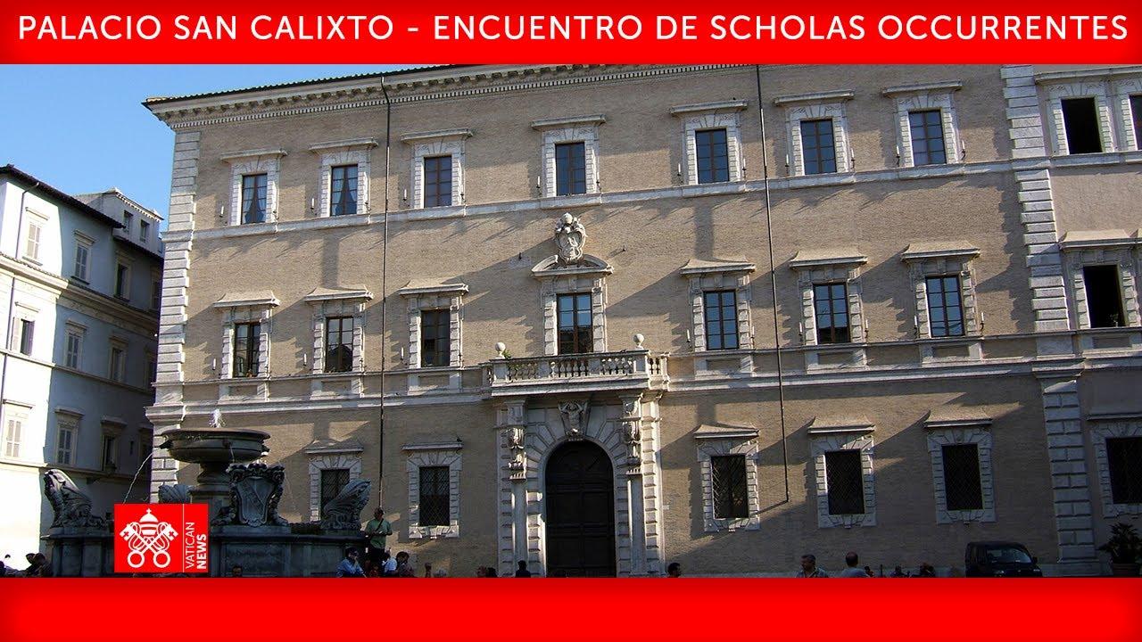 Palacio San Calixto - Encuentro de Scholas Occurrentes, 20 de mayo 2021 - Papa Francisco