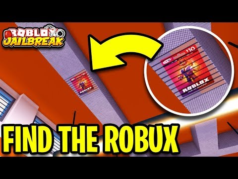 Hidden Robux Card In Jailbreak 3 Find The Free Robux Hide
