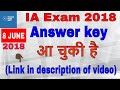 IA Answer key 2018 with Master Questions