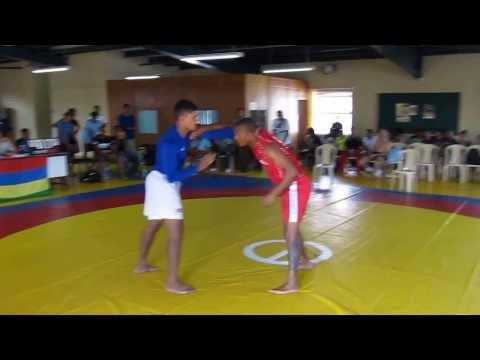Gilbert Emilie (lutte) Vs John Nanon (judo) Finale Croche 2013 Des 74kg