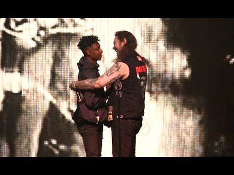 "Post Malone & 21 Savage ""ROCKSTAR"" LIVE! + ""Bank Account"""