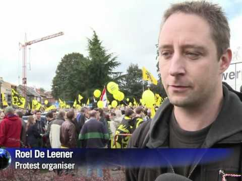 Belgian police out in force for Flemish demo