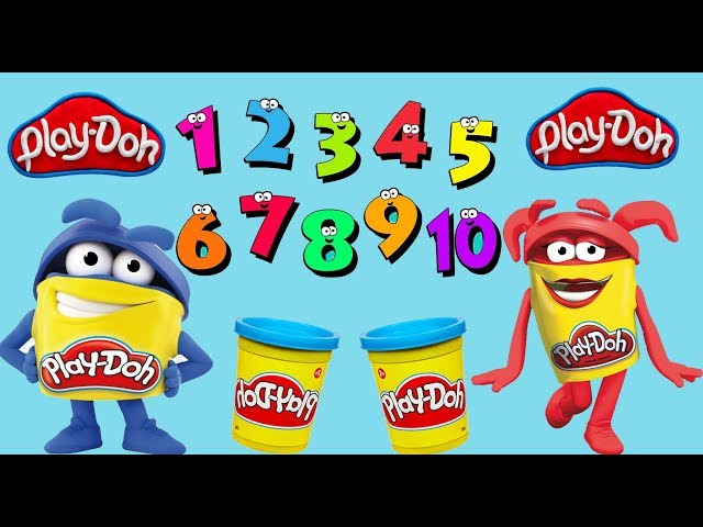 Learn Numbers 1-10 | Learn Counting to 10 With Play-Doh | Numbers Song English